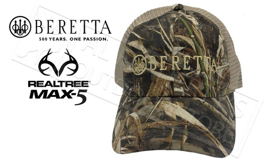 Beretta LP Trucker Hat in Max5 Camo #BC05201660