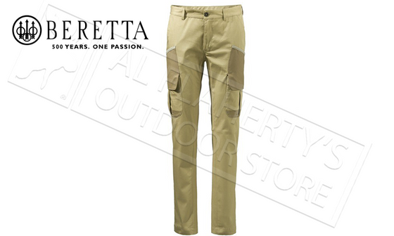 Beretta Country Cargo Pants in Prairie Sand, Sizes 52-56 Italian #GU103022950858