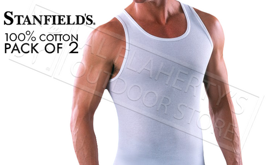 Stanfield's Athletic Shirts 2-Pack, White M-XL #9521