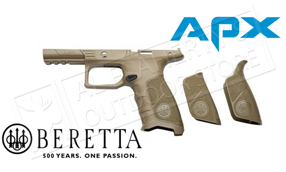 Beretta APX Grip Frame, Flat Dark Earth Colour with Backstraps #E01642