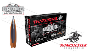 Winchester 7mm Rem Mag AccuBond Expedition LR, Polymer Tipped Boat-Tail 168 Grain Box of 20 #S7LR