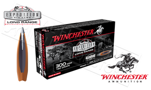 Winchester 300WSM AccuBond Expedition LR, Polymer Tipped Boat-Tail 190 Grain Box of 20 #S300SLR