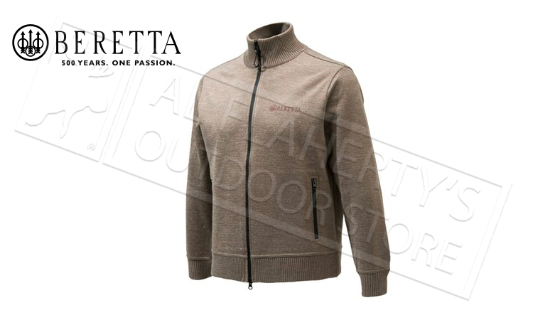 Beretta Techno Windshield Full-Zip Sweater in Hazlenut, M-3XL #PU411T1201