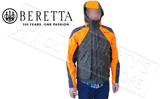 Beretta Thorn Resistant Jacket GTX in Blaze & Green, Sizes L-XL #GU033T1429077