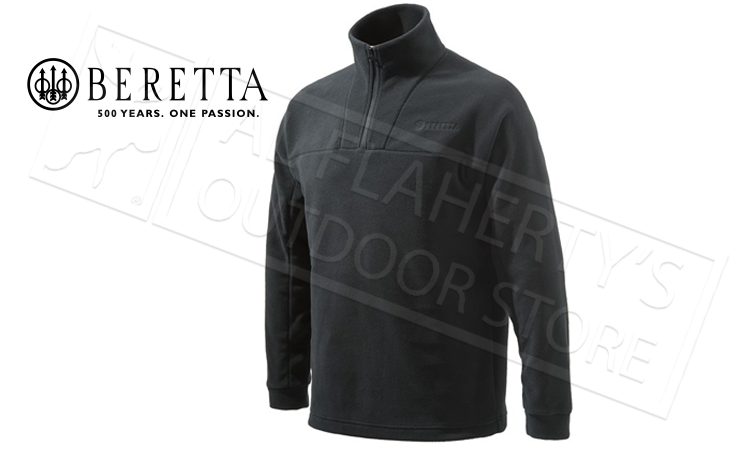 Beretta Half Zip Fleece in Black, M-3XL #P3311T14340999