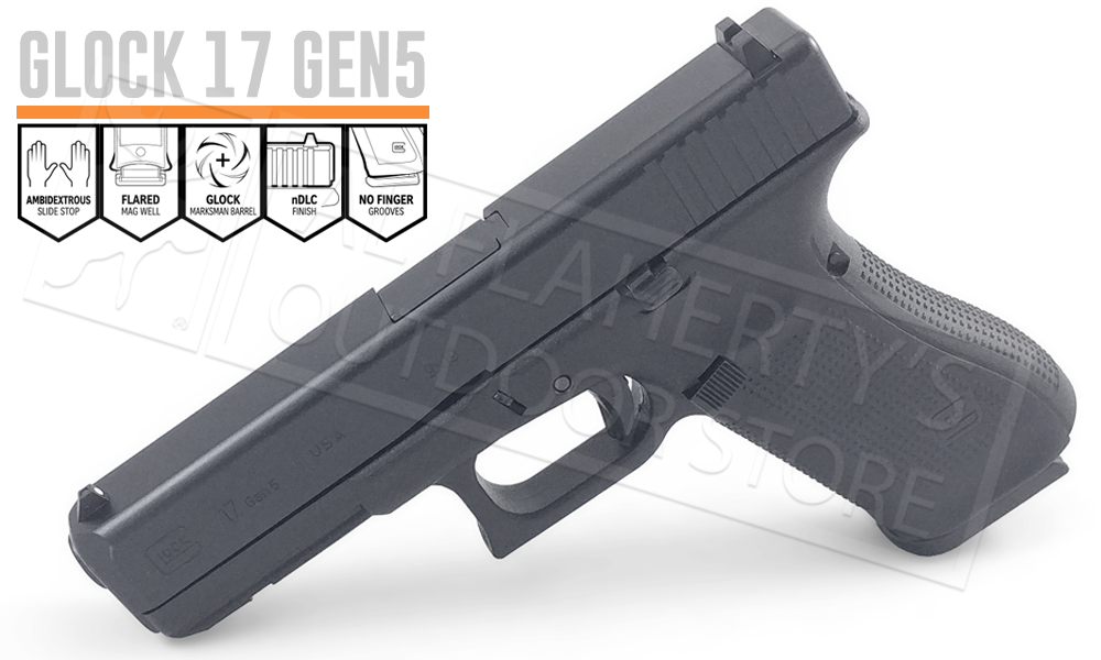 Glock 17 Gen 5 with Fixed Sights 9mm