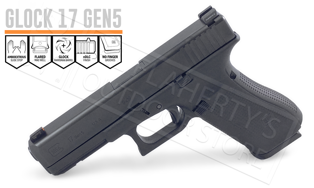 Glock 17 Gen5 with AmeriGlo Bold Sight 9mm