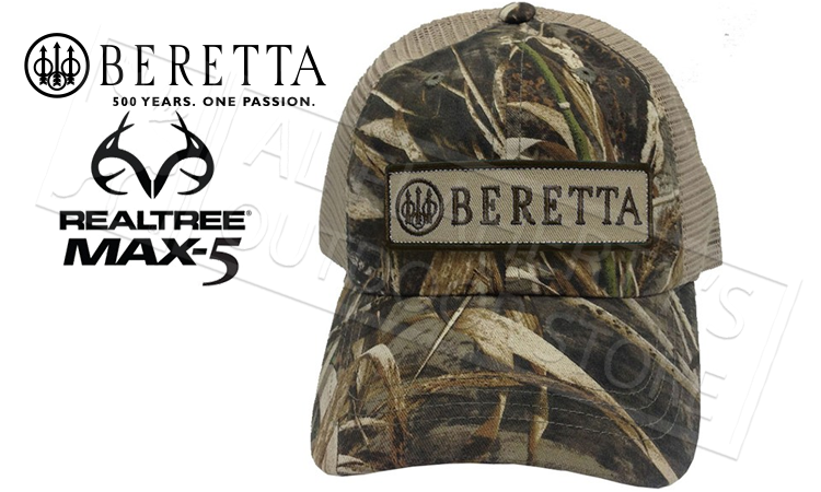 Beretta Patch Trucker Hat in RealTree Max-5 #BC06201660