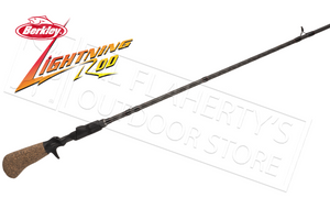 "Berkley Lightning Rod Casting Rods, 6'6"" Medium Power Moderate Fast Action #BCLR662M"