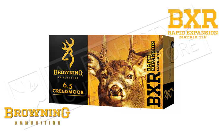 Browning 6.5 Creedmoor BXR, 129 Grain Box of 20 #B192100651