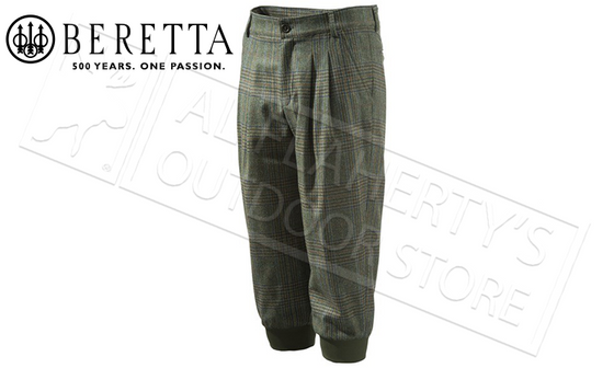 Beretta St James Hunting Breeks in Green Check, Sizes 52-25 Italian #CU951T0764076