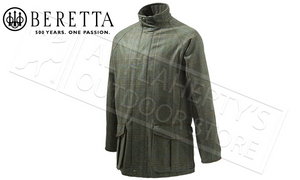 Beretta St James Coat in Green Check, Sizes 50-56 Italian #GU732T07640796