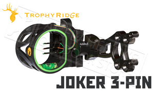 "Trophy Ridge Joker 3-Pin Bow Sight, 0.019"" Pins #AS107"