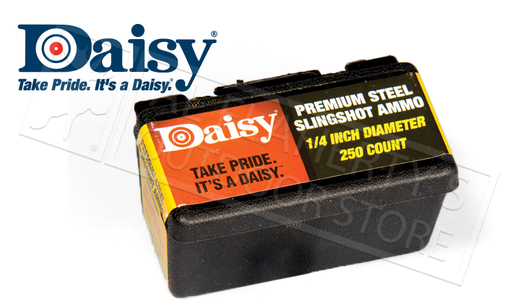 Daisy PowerLine 1/4 Inch Steel Slingshot Ammunition, Box of 250 #988114