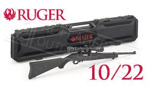 Ruger 10/22 Carbine Combo with Weaver Scope and Hard Case #21194