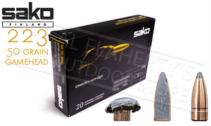 Sako 223 REM Gamehead, JSP 50 Grain Box of 20 #106G