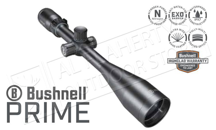 Bushnell Prime 6-18x50mm Scope with Multi-X Reticle and Side Parallax Adjustment #RP6185BS3