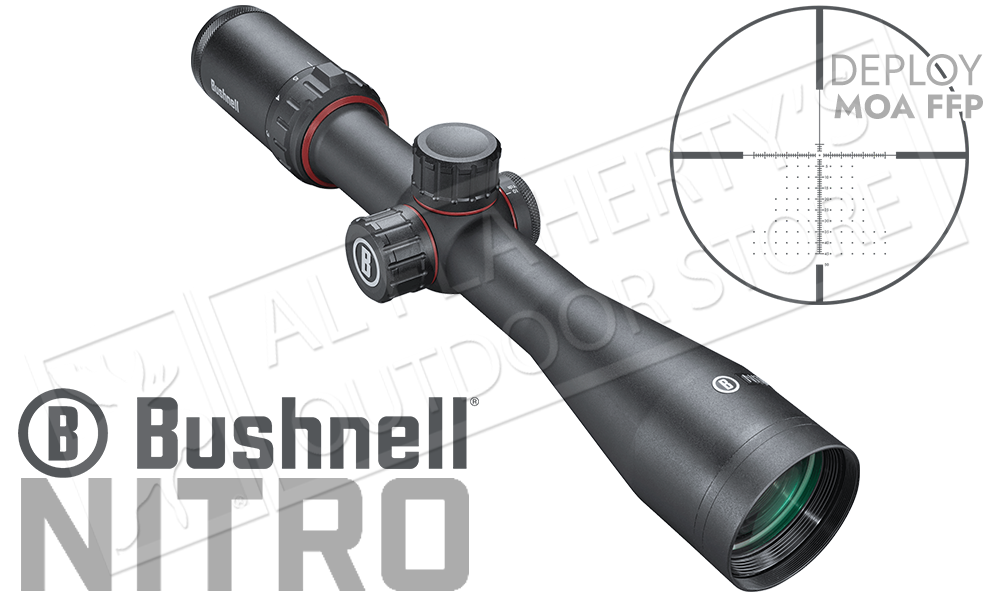 Bushnell Nitro Riflescope 3-12x44mm with Deploy MOA FFP Reticle #RN3124BF1
