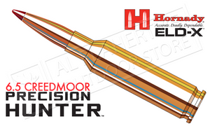 Hornady 6.5 Creedmoor Precision Hunter, ELD-X 143 Grain Box of 20 #81499