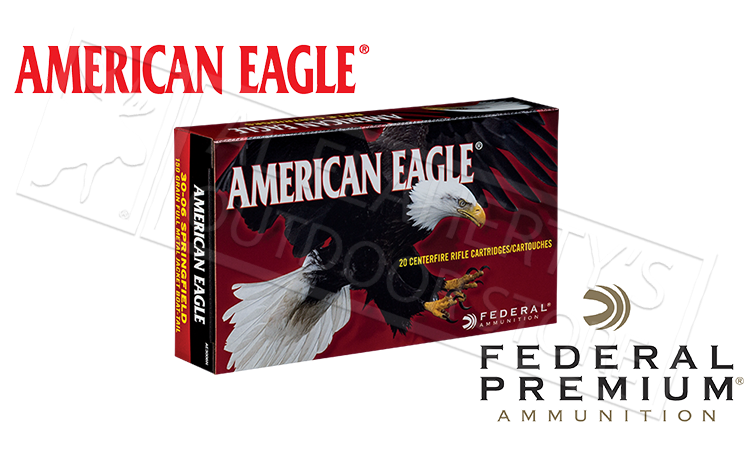 American Eagle 30-06 SPRG, JHP 150 Grain Box of 20 #AE3006N
