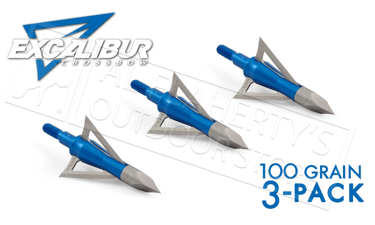 Excalibur Crossbow BoltCutter Broadheads 100 Grain 3-Pack #6675