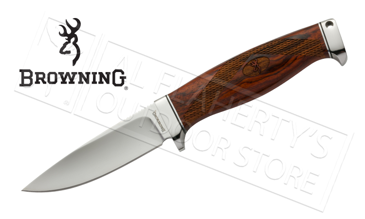 Browning Bush Craft Ignite Wood Fixed Blade Knife #3220261