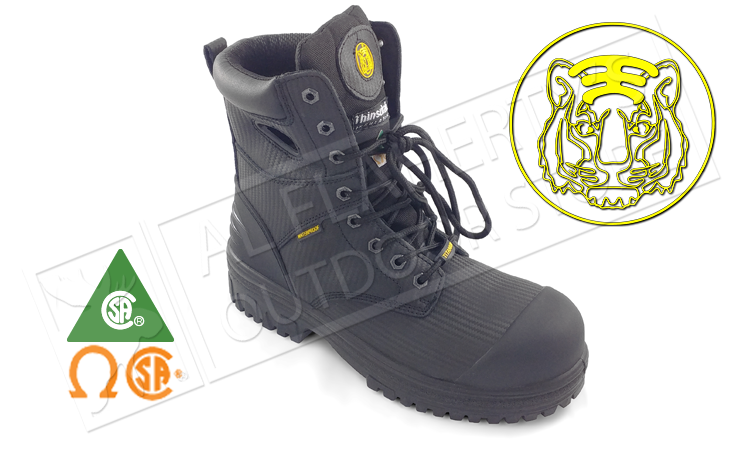 Tiger Titanium Safety Boot, Black Sizes 8-12 #6688