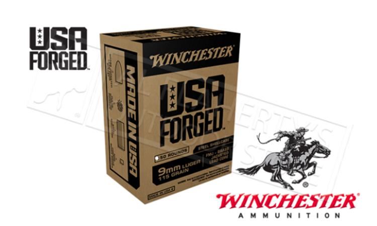 Winchester 9mm USA Forged, FMJ 115 Grain Box of 50 #WIN9SV