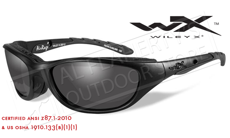 ede69500df Wiley X AirRage Shooting Glasses with Grey Lens and Matte Black Frame  694