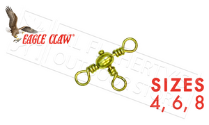 Eagle Claw Crossline Swivel Packs, Sizes 4 6 and 8 #01061