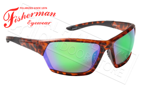 a057836d8f fisherman eyewear breeze polarized sunglasses tortoise with green mirror  lens  50523.