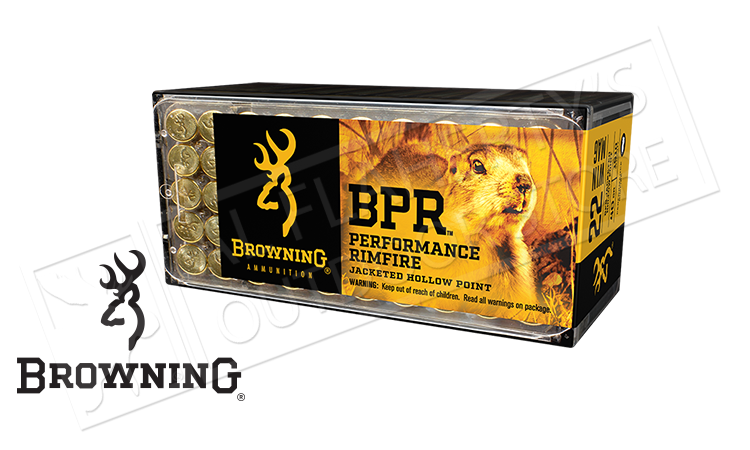 Browning 22WM BPR Hunting Ammunition, JHP 40 Grain Box of 50 #B195122050