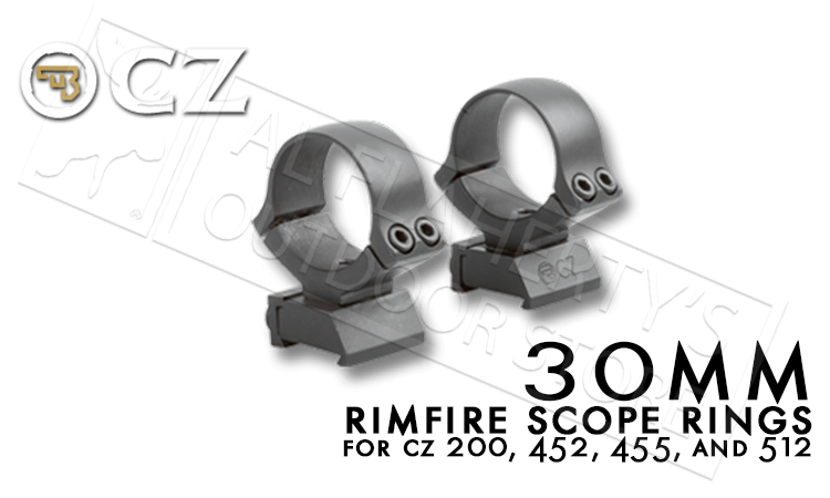 CZ 30mm Rimfire Scope Rings for CZ 455 Rifles #6693700001ND
