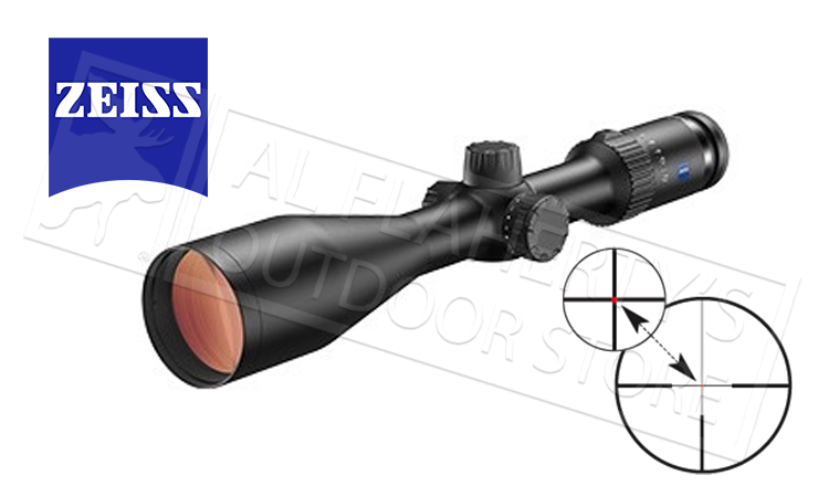 Zeiss Conquest V4 Rifle Scope 3-12x56mm with 60 Illuminated Reticle #5229259960000