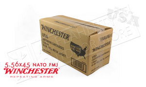 Winchester 5.56x45 Bulk, 55 Grain FMJ Case of 1000 #USA556LK