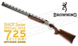 SHOT Show 2018 Browning 725 Trap Left-Handed Over Under Shotgun with Adjustable Comb #0135823009