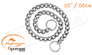 "SportDOG Traning Chain Dog Collar, 26"" Long for Neck Sizes 8"" to 24"" #SAC30-13327"