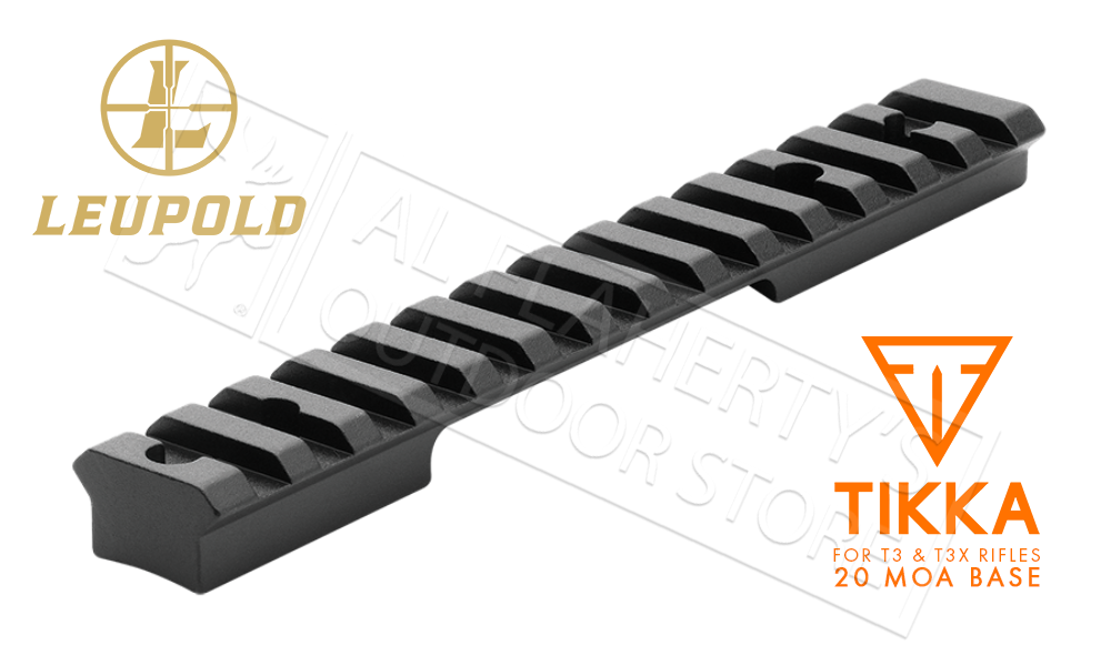 Leupold BackCountry Cross-Slot Base for Tikka T3/T3X 1-Piece 20 MOA #171349