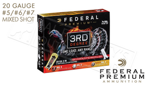 "20 Gauge - Federal 3rd Degree Turkey Shells, 3"" 1-1/2 oz. Load Mixed 5/6/7"