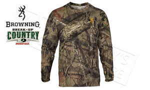 Browning Wasatch CB Long Sleeve T-Shirts in Mossy Oak Break-up Country Camo #30178228