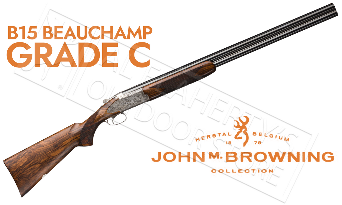 "Browning B15 Beauchamp Grade C Over-Under Shotgun with Grade V Walnut Stock, 12g 28"" Barrel"