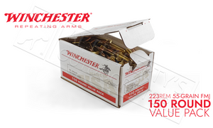 Winchester 223 Rem Bulk, 55 Grain FMJ Case of 150 #USA223L1