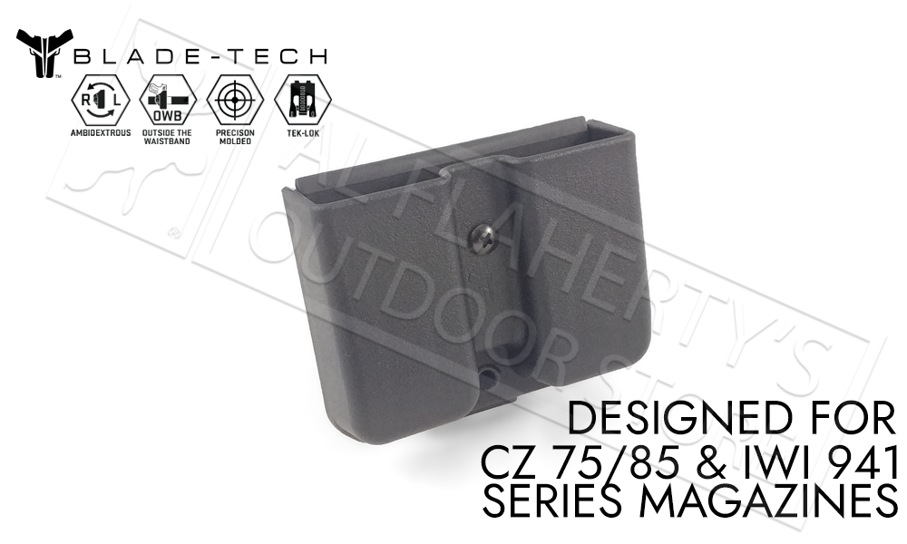 Blade-Tech Signature Double Mag Pouch CZ 75 for 9mm and 40sw Double-Stack Magazines #AMMX0024GDS940TLBLK