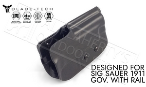 Blade-Tech Holster Classic OWB for SIG 1911 Railed Pistols with TekLok and ASR #HOLX000833014853