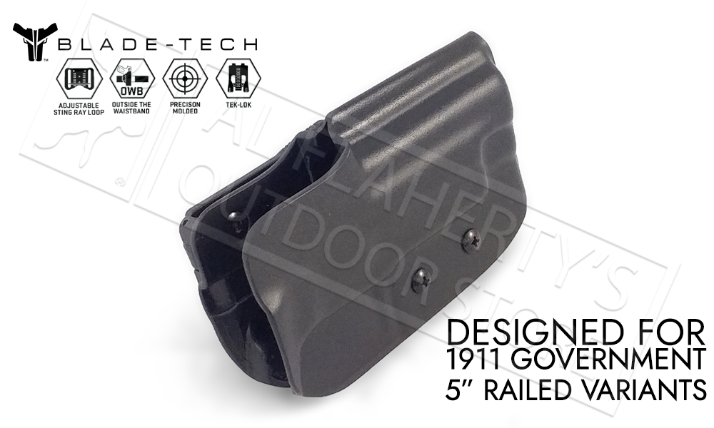 "Blade-Tech Holster Classic OWB for 1911 5"" Railed Pistols with TEKLOK and ASR #HOLX000000825920129"
