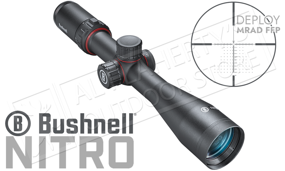 Bushnell Nitro Riflescope 2.5-10x44mm with Deploy MIL FFP Reticle #RN2104BF2
