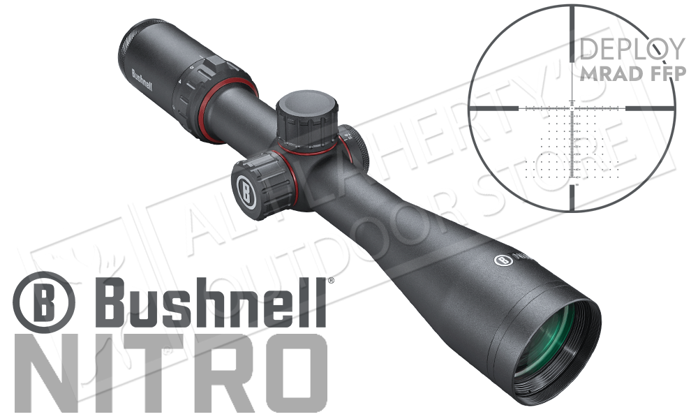 Bushnell Nitro Riflescope 3-12x44mm with Deploy MIL FFP Reticle #RN3124BF2