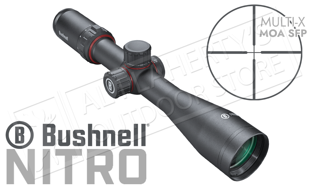 Bushnell Nitro Riflescope 3-12x44mm with Multi-X MOA SFP Reticle #RN4164BS3