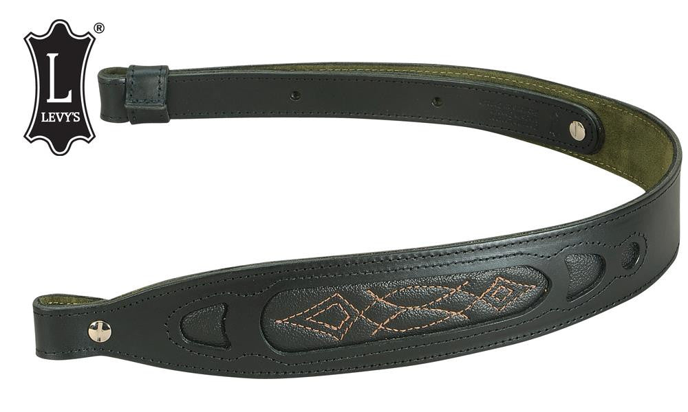 "Levy's Leathers Deluxe Leather Rifle Sling, 28"" - 36"" Black #SN27-BLK"