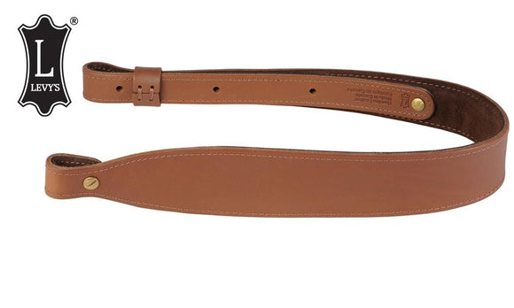 "Levy's Leathers Natural Oil-Tan Cobra Rifle Sling, 28"" - 36"" Natural Brown #S22-NAT"